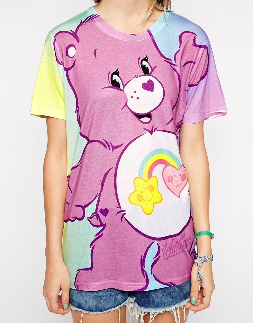 4a9dafd921e1 Image 3 of Ichiban Oversized Boyfriend T-Shirt With Oversized Care Bear  Print