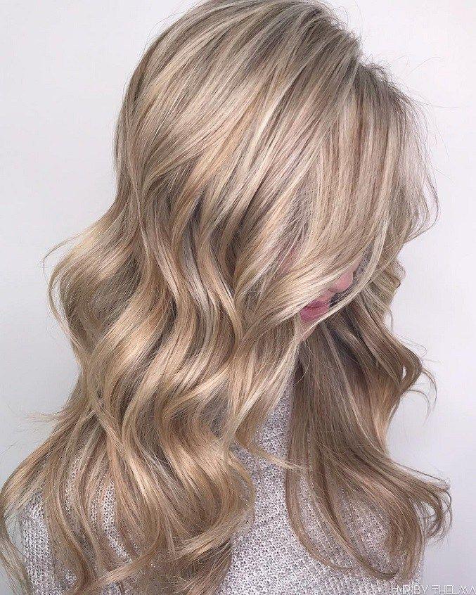 Sandy Pearly Blondeblonde Hair Color With Highlightsblonde Hair
