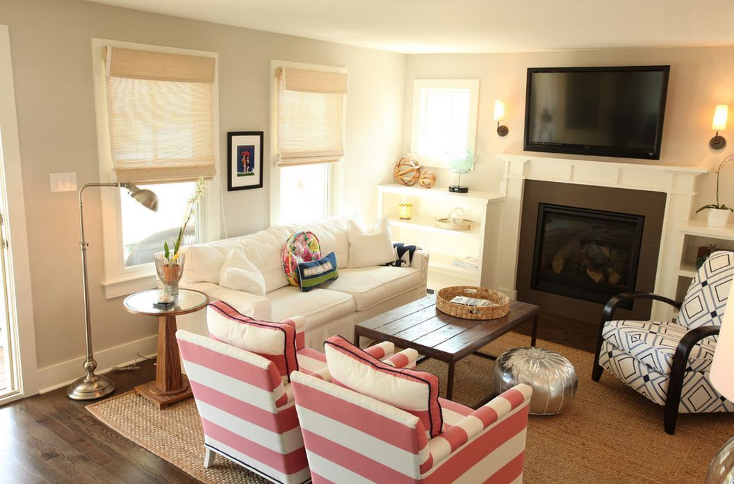 30+ Small Living Rooms with Big Style | Small living room ... on Small Space Small Living Room With Fireplace  id=84008