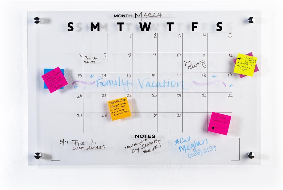 30 Day Calendar Whiteboard Wall Mounted Acrylic Diy Calendar Dry Erase Dry Erase Dry Erase Board Calendar Monthly dry erase wall calendar