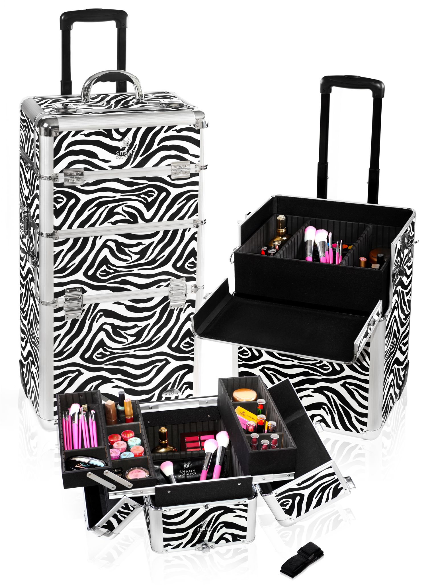 Zebra Trolley Case. 200 Makeup case, Professional