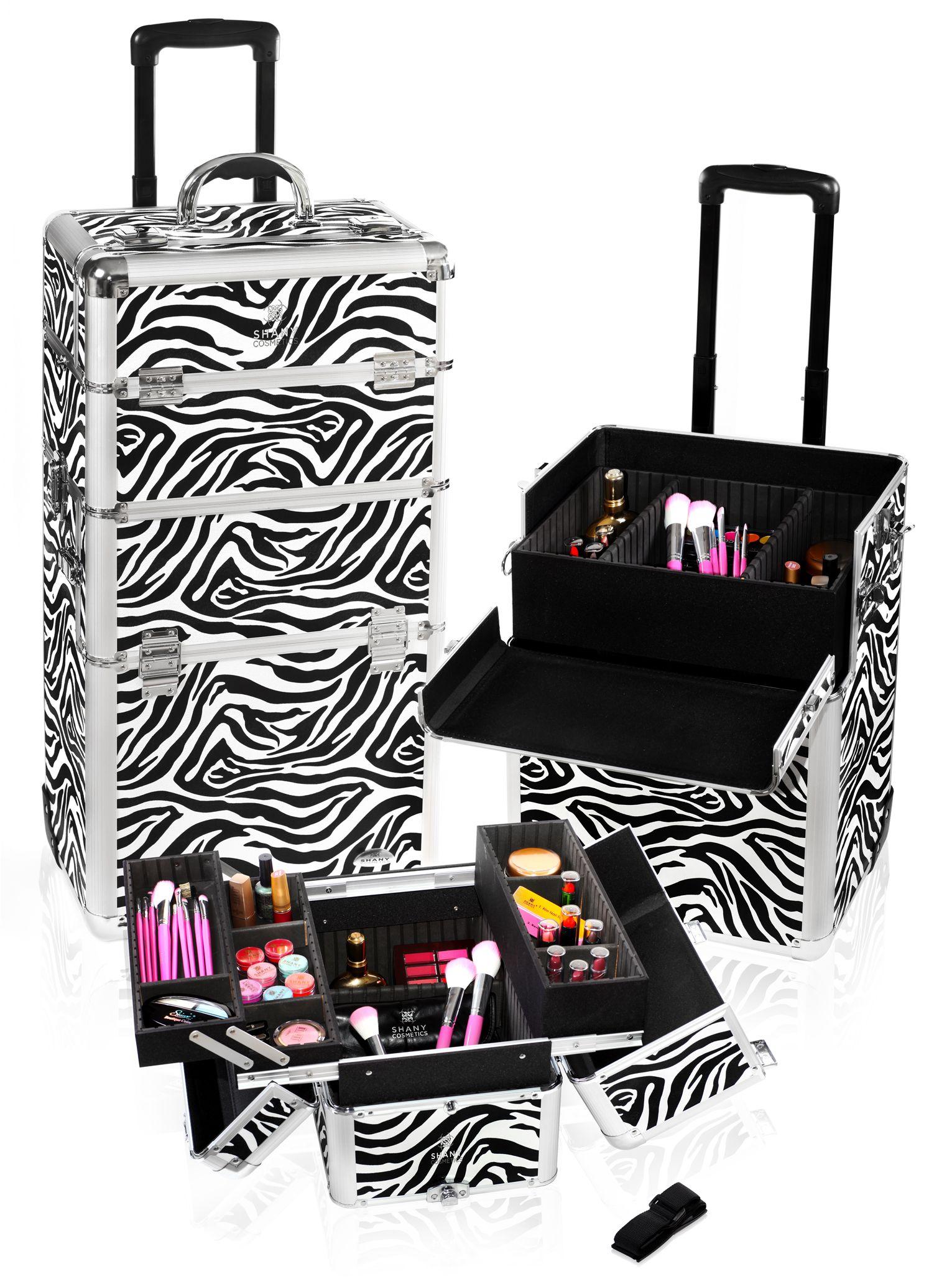 Zebra Trolley Case. 200 Makeup case, Professional
