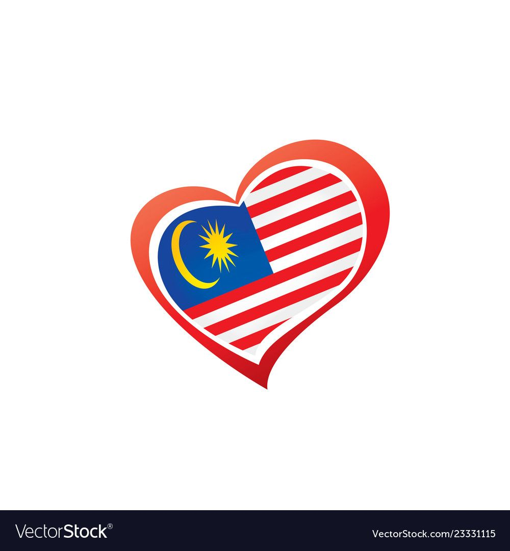 Malaysia Flag On A White Royalty Free Vector Image Affiliate