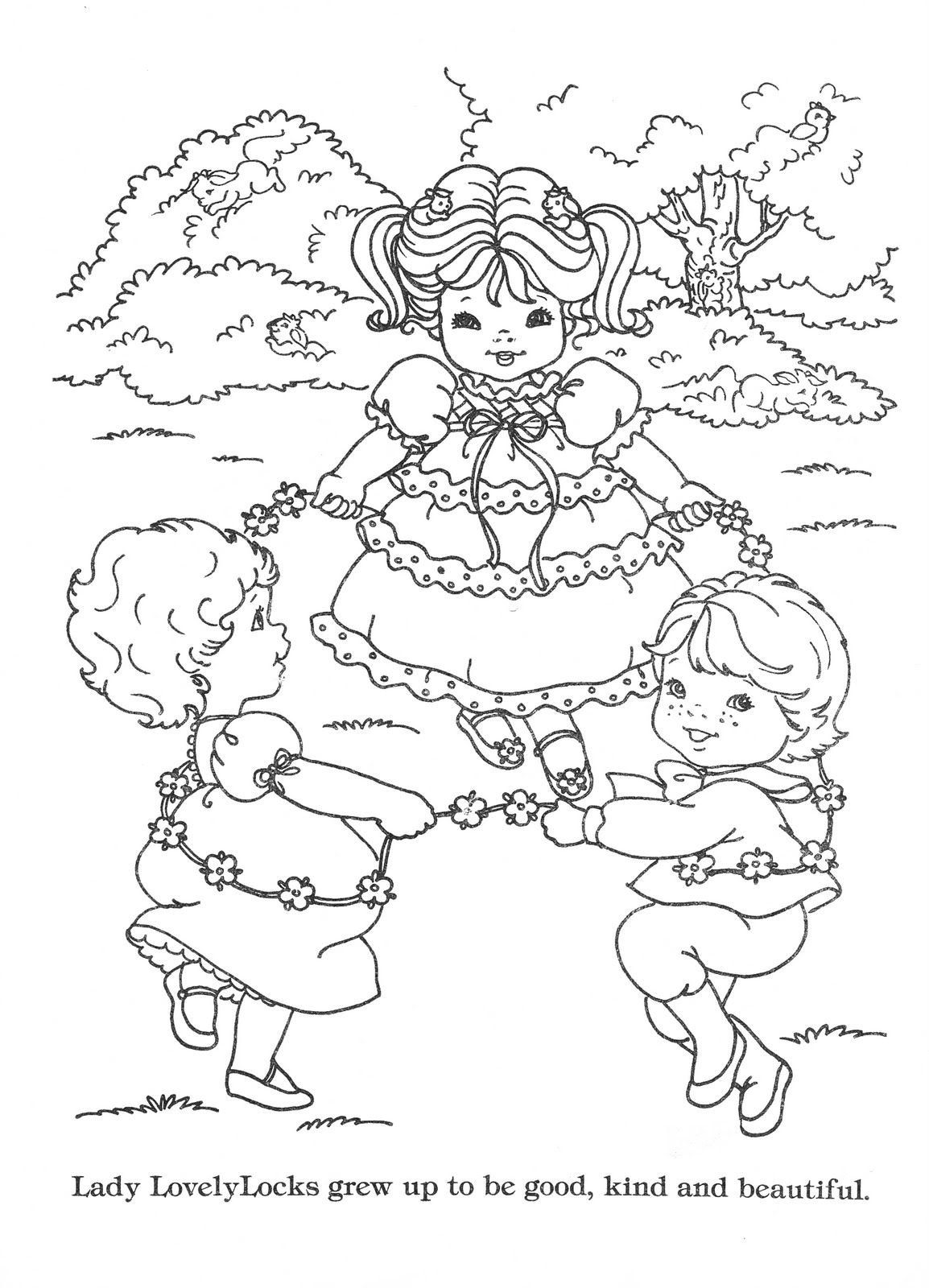 lady lovely locks coloring book lady lovely locks the begining edited for printing - Coloring Book Printing