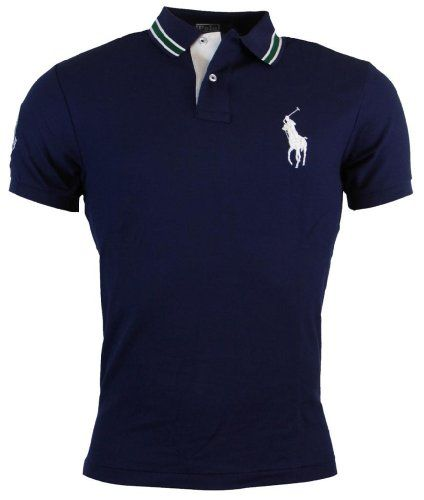 Polo Ralph Lauren Mens Custom Fit Wimbledon Mesh Polo Shirt--What every Man needs in his Closet !!!