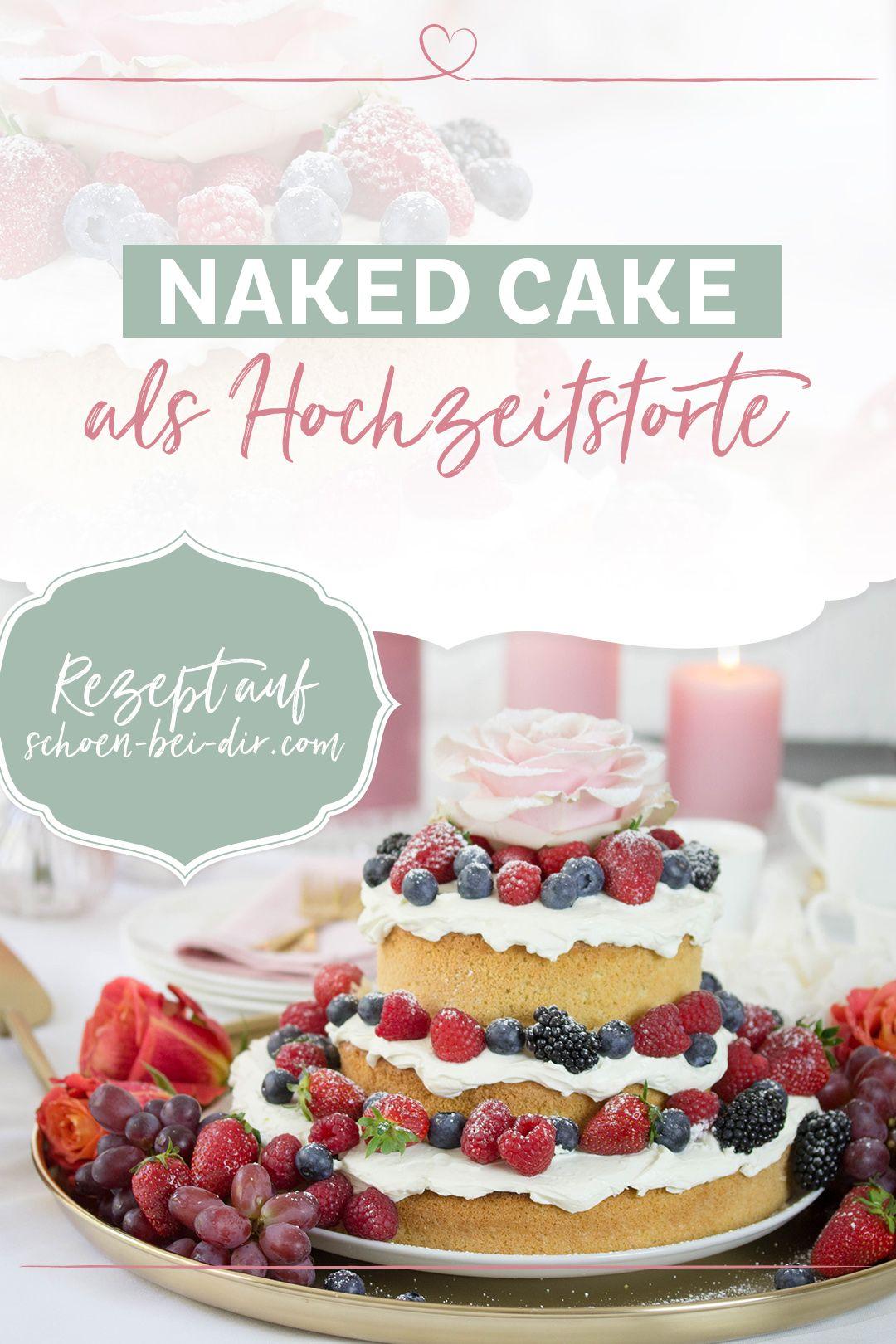 Liebe liegt in der Luft! - Naked Cake als Hochzeitstorte