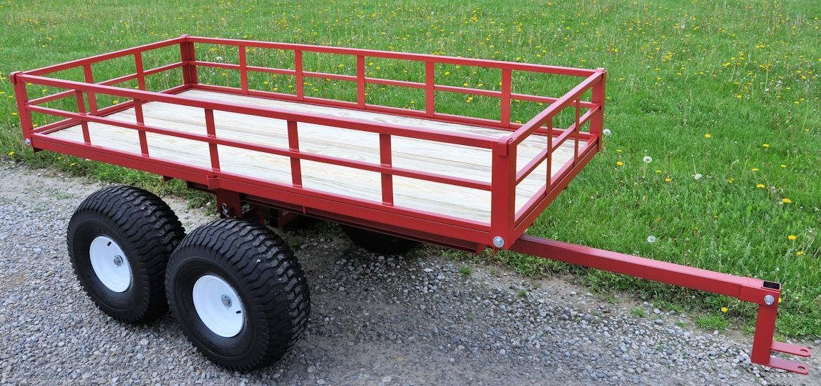 Model 7550atv Atv Trailer With Our New Brush And Firewood