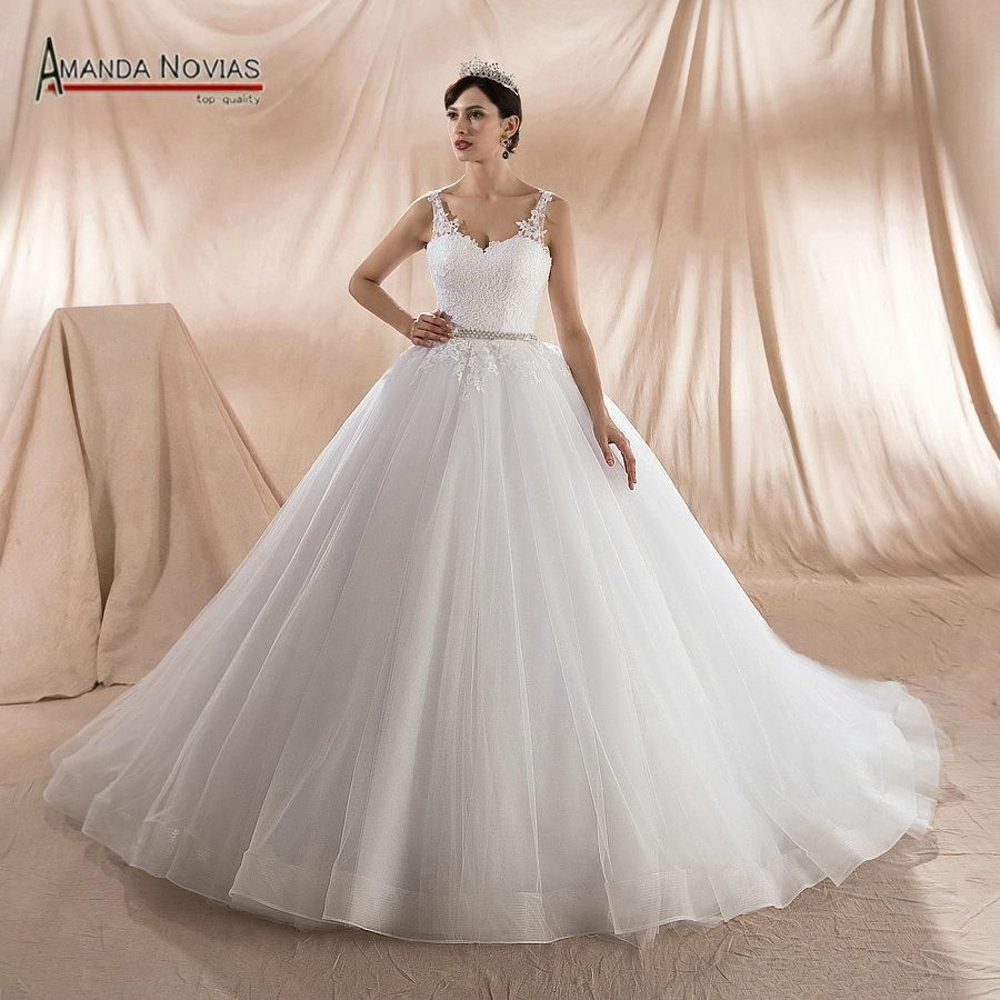Wedding dress with straps  New Design Ball Bride Wedding Dresses Straps Wedding Gown Amanda