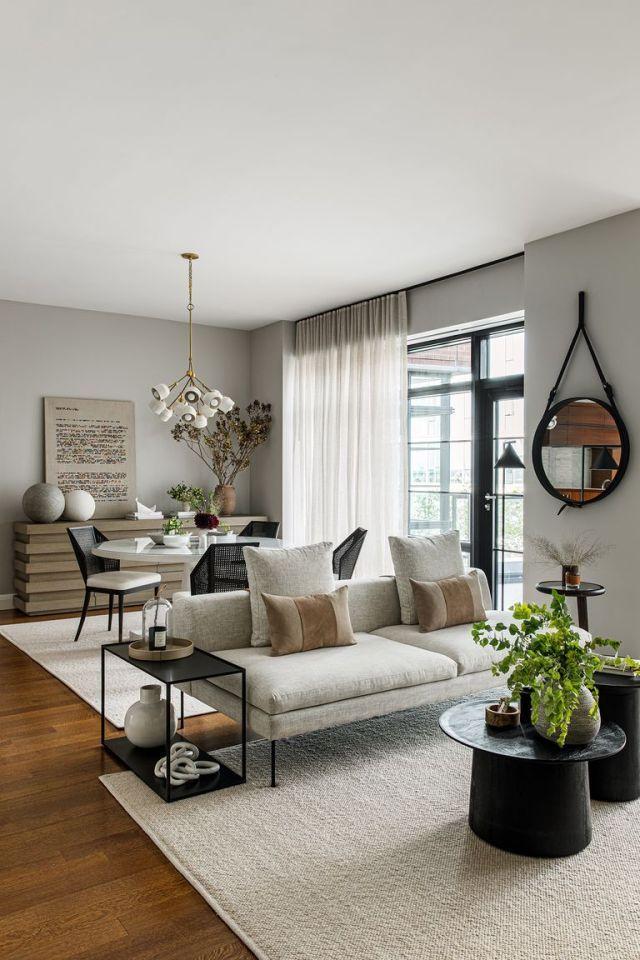 Photo of Un appartement à la décoration en tons naturels à Manhattan