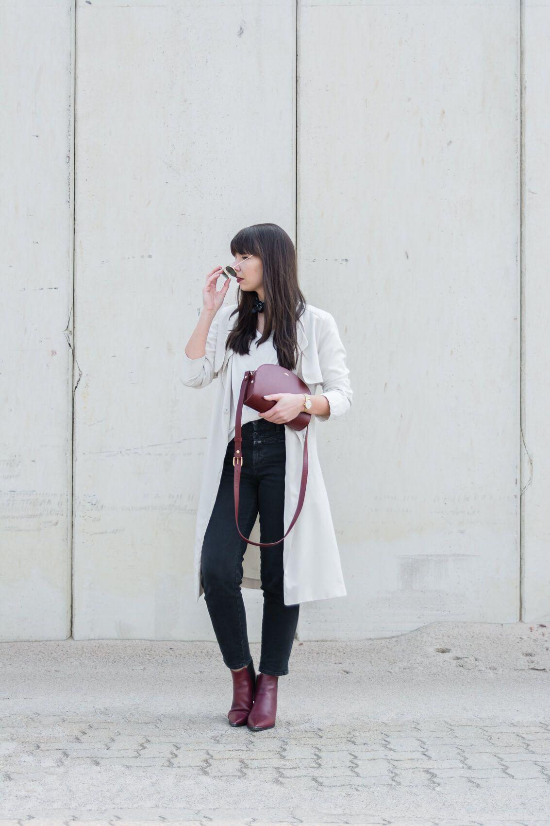 "8bc49e9b524c outfit details  trench coat – H M basic shirt – Funktion Schnitt jeans –  Closed ""Pedal Icon"" bag – A.P.C. Half Moon Bag boots – Acne Studios Jensen  bandana ..."