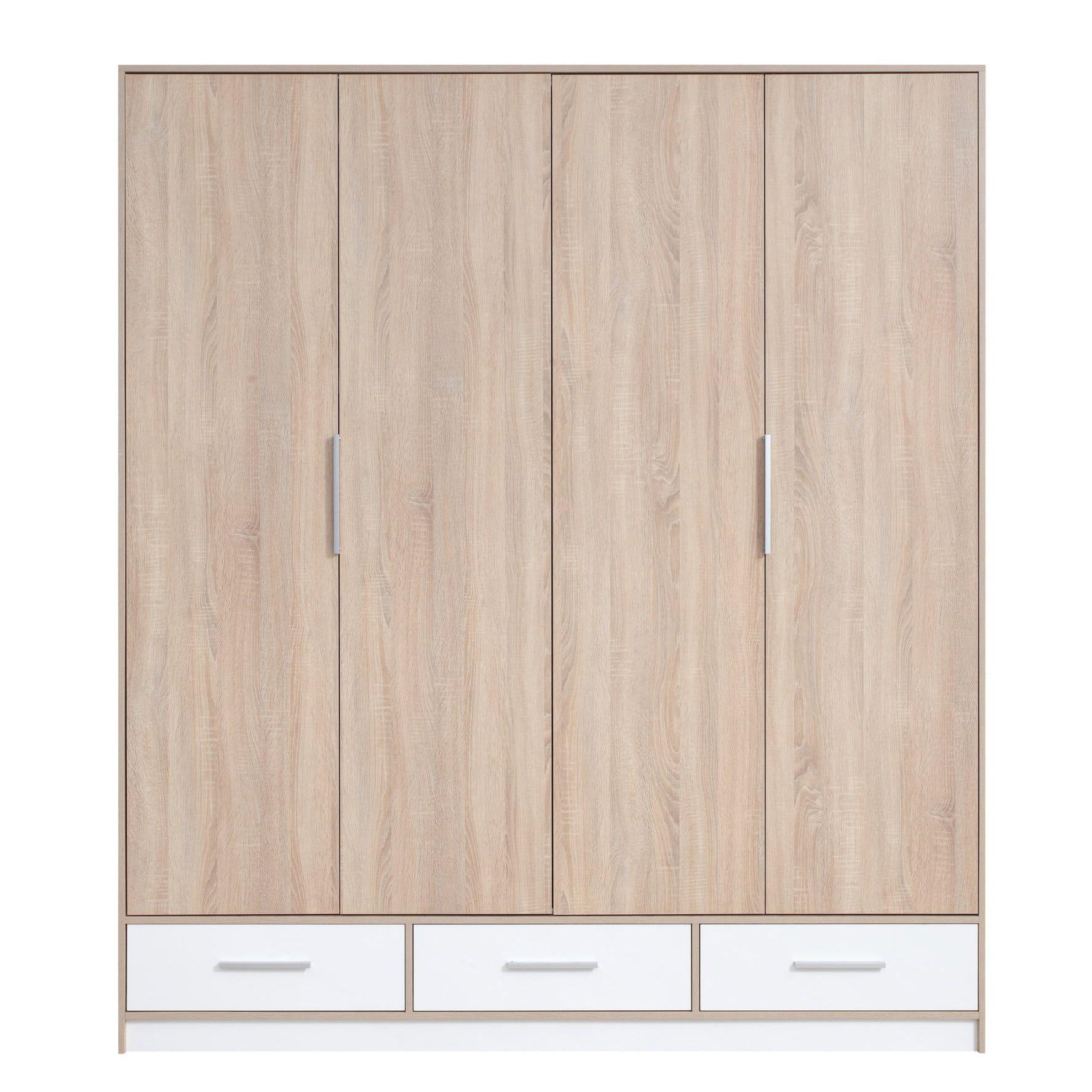 Isko wardrobe – Color: Sonoma Oak / White – Furniture