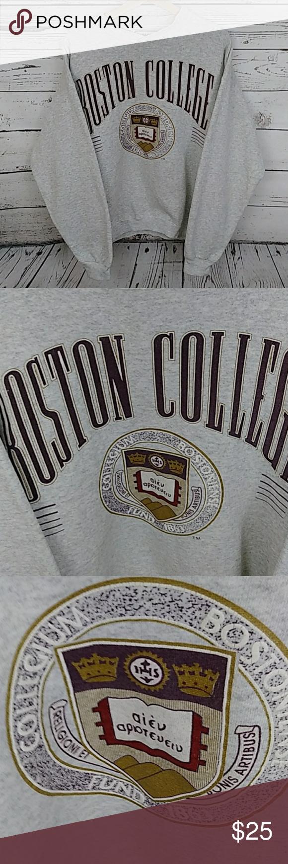 Vintage Boston College Sweatshirt College Sweatshirt Sweatshirts Vintage Sweatshirt [ 1740 x 580 Pixel ]