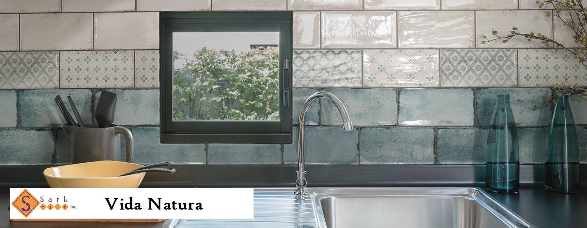 Best Vida Natura Blanco And Deco 4X8 Glazed Ceramic Tile On A 400 x 300