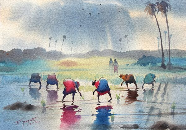 Ejoumale Watercolor Watercolor Paintings Nature Watercolor