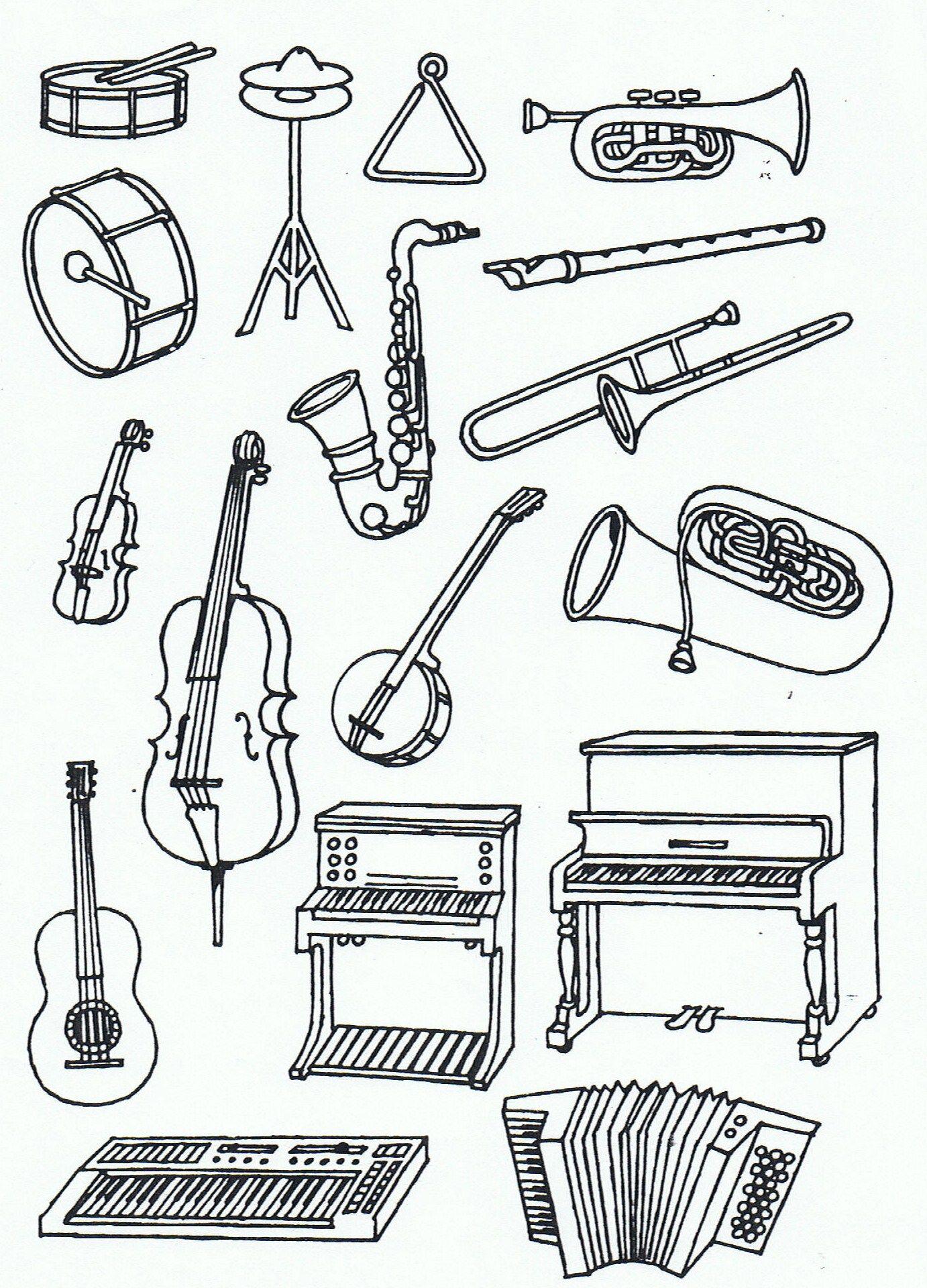 Instrumenten Preschool Music Music For Kids Music Coloring