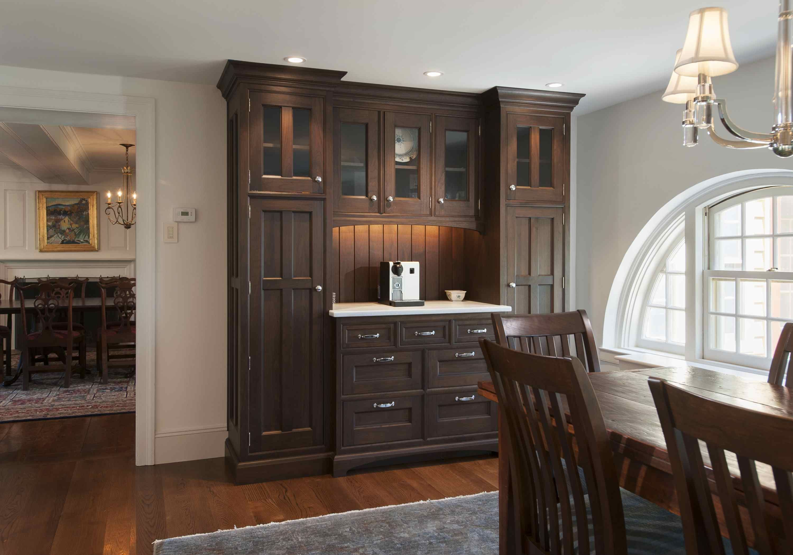 Designed by Main Street Cabinet Co. - This rich walnut ...