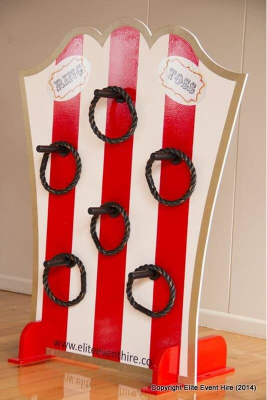 Ring Toss Carnival Circus Game Vintage Traditional Old