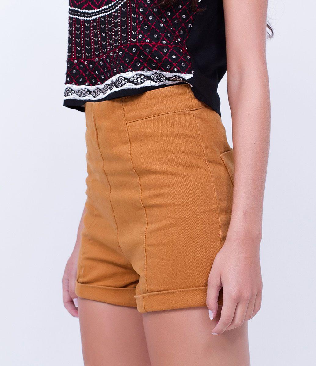 b2c2f64ca Short Cintura Alta em Sarja - Lojas Renner | moda | Shorts cintura ...
