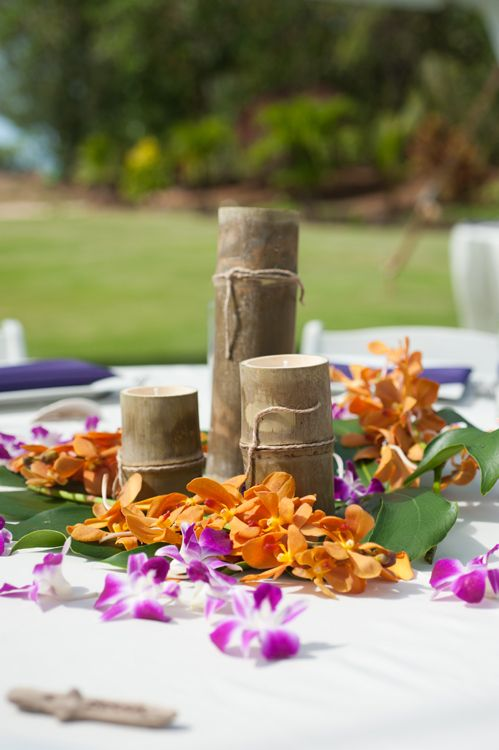 The following wedding centerpieces use three different sizes of our the following wedding centerpieces use three different sizes of our eluminy natural bamboo candles at krystal junglespirit Image collections