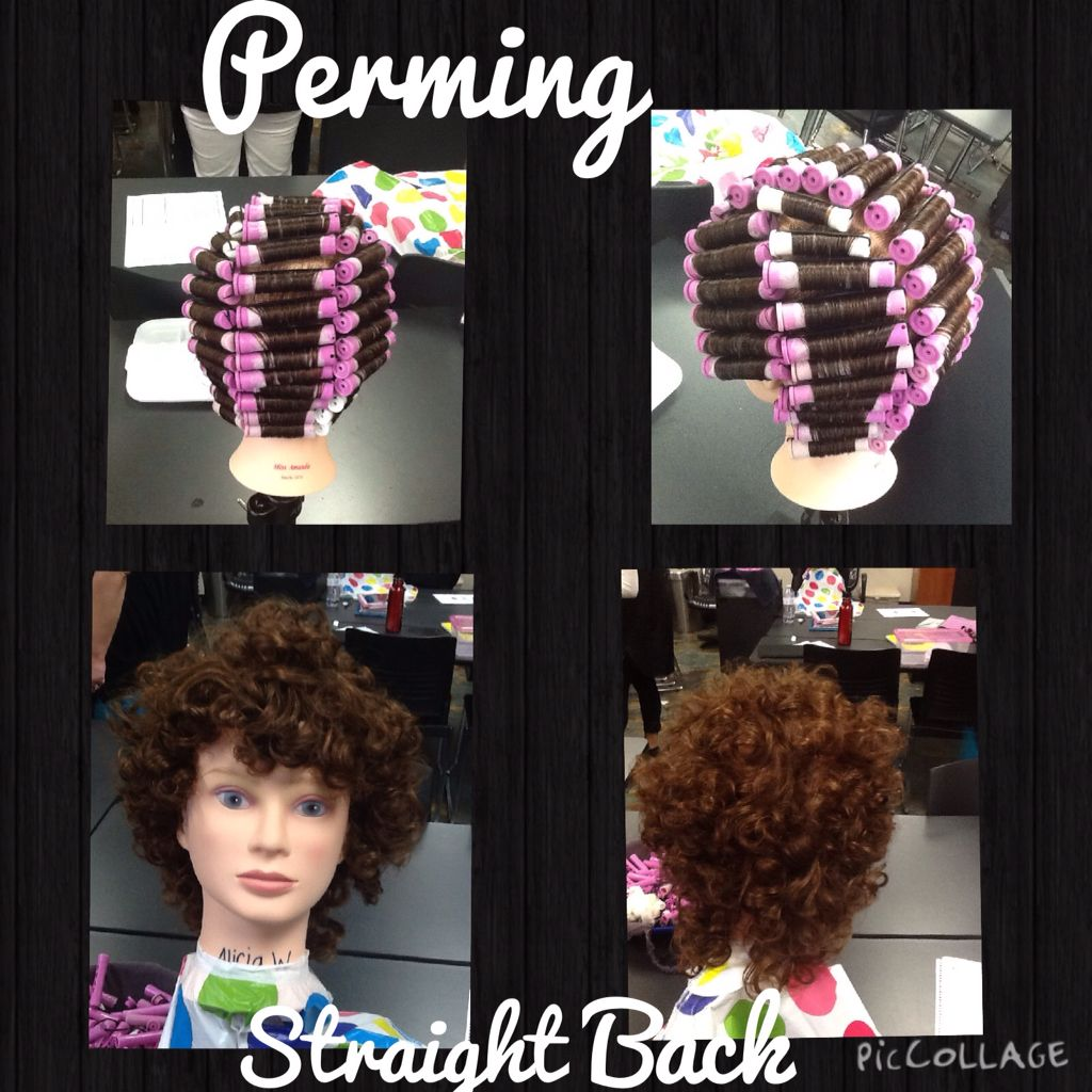 Straight perm solution - Straight Back Wrap And After Without Solution