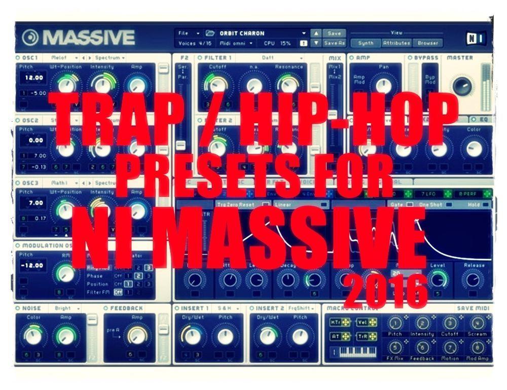 Hot SALE > 3067 TRAP & HIPHOP Presets for NI Massive FL