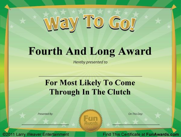 Download 101 Funny Certificates To Give Family Friends And