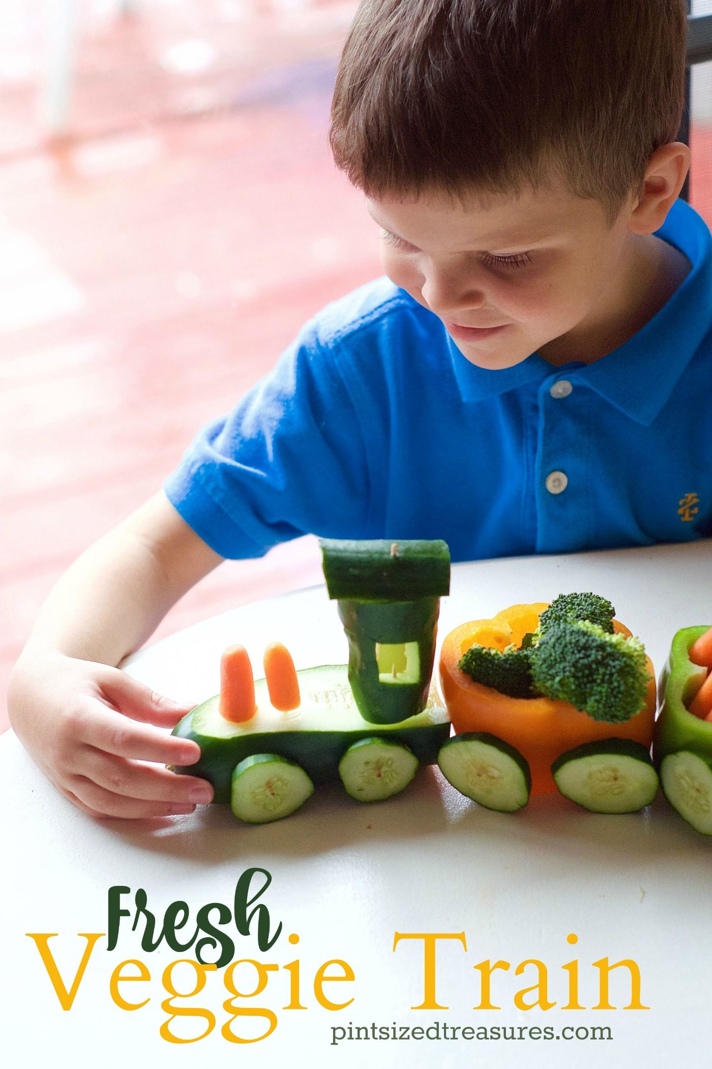A fun, innovative, super-cute way for kids to eat their veggies! Take