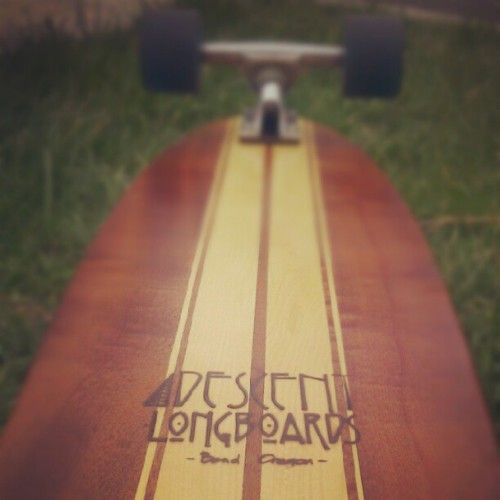 My first ever longboard, made by my dad. #longboard (Taken with instagram)