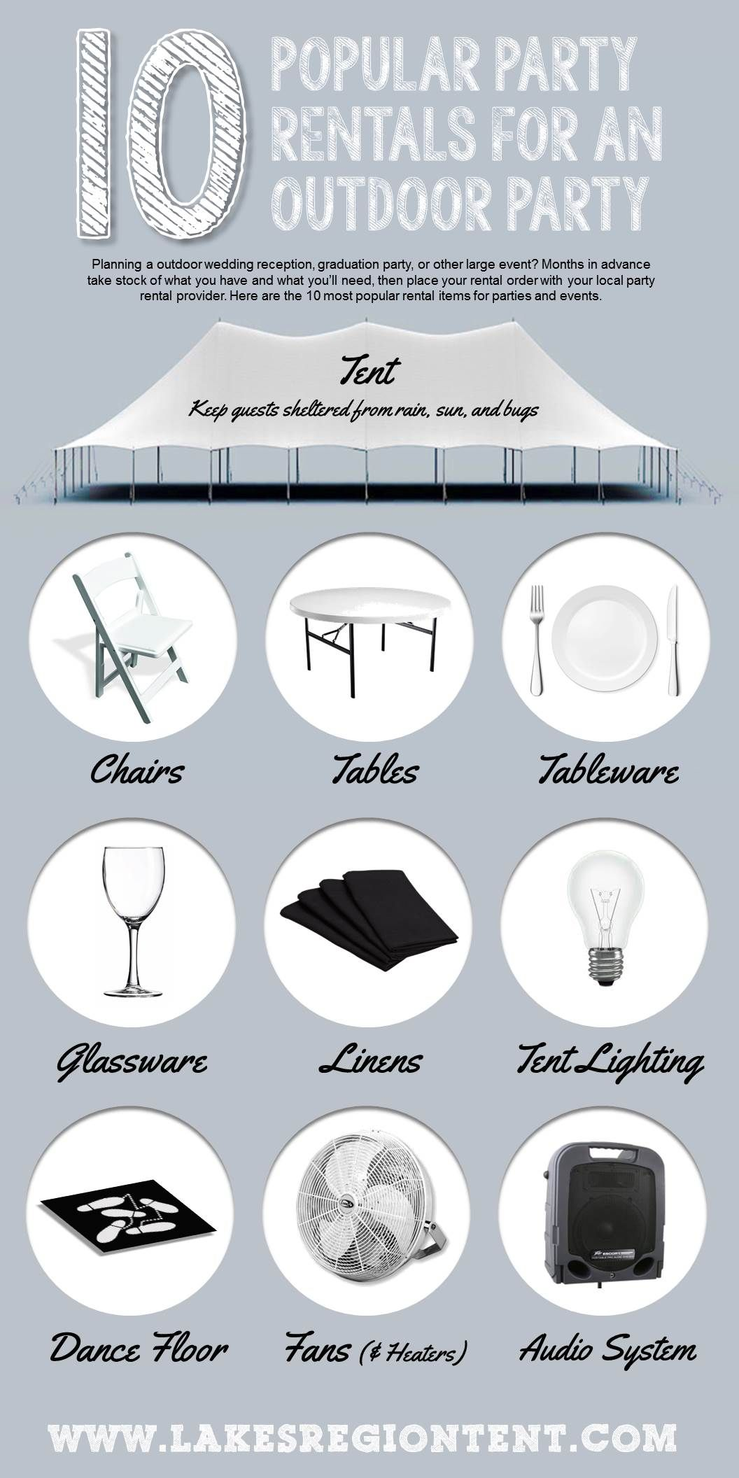 10 most popular party rental items for outdoor parties - do you have