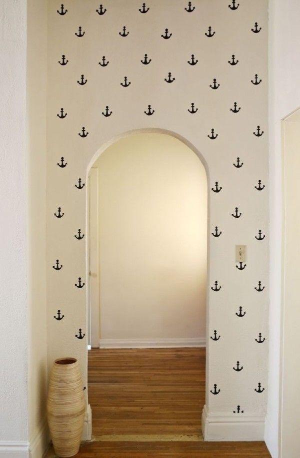 Beach House Decorating | Nautical Beach Home Interiors: Anchors Aweigh | http://nauticalcottageblog.com