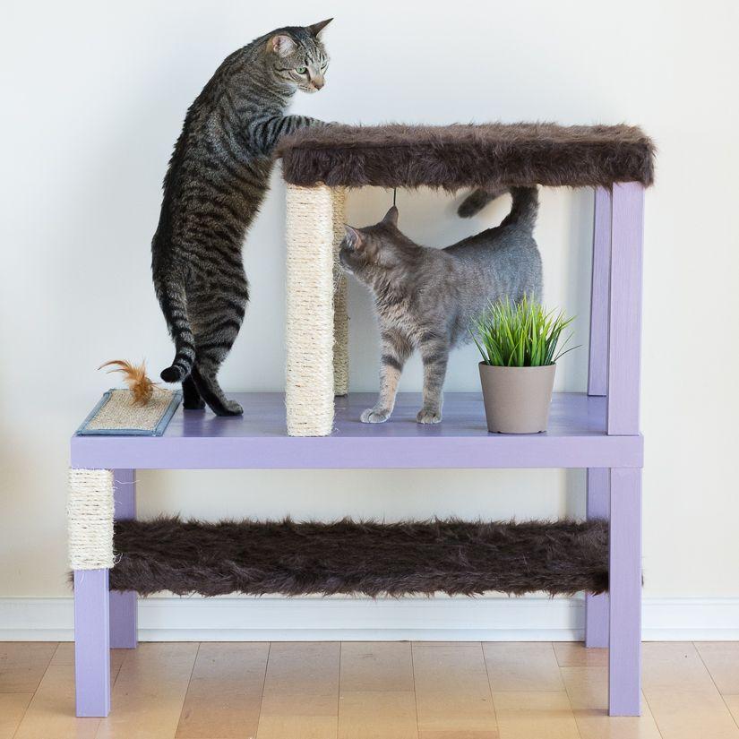 DIY Cat Tree Using Ikea Tables Diy cat tree, Cat condo