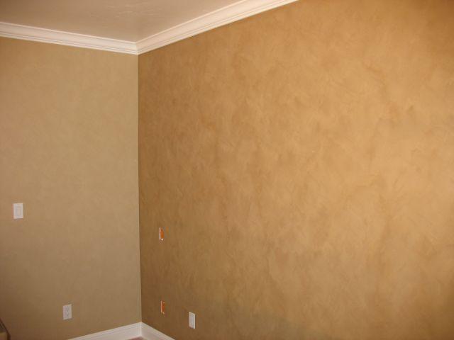 Gold Suede Walls W White Trim