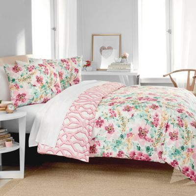 Jane Meets Janie Avery Reversible Twin Xl Comforter Set In Pink