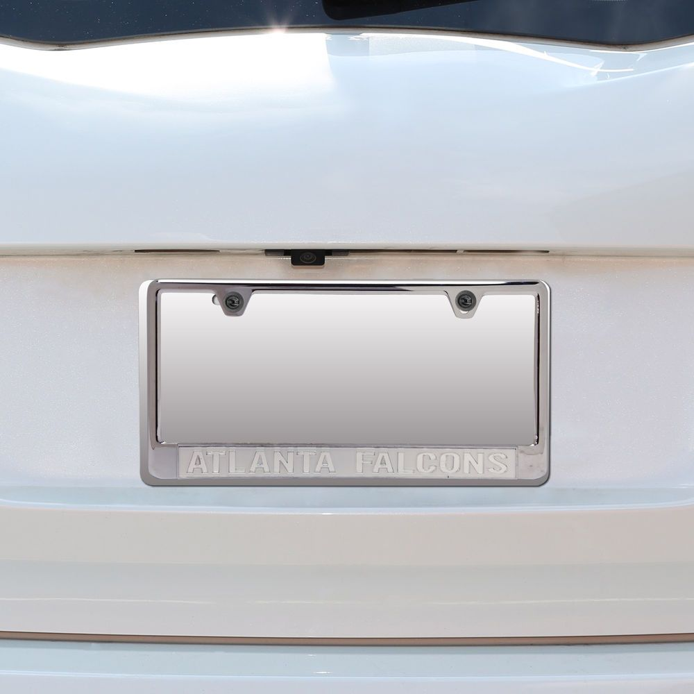 Silver Atlanta Falcons Bottom Only Matte License Plate Frame with ...