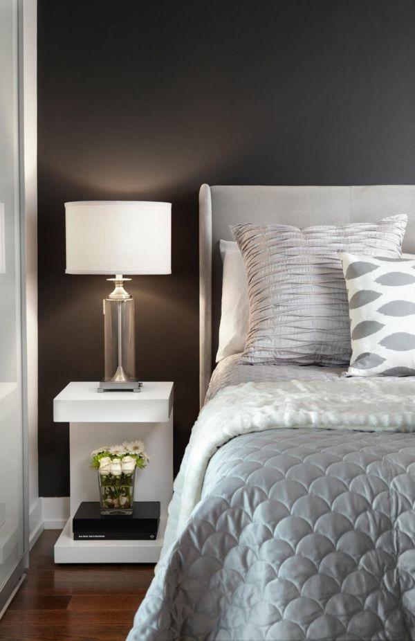 schlafzimmereinrichtung schlafzimmer ideen nachttisch design - schlafzimmer ideen bilder designs