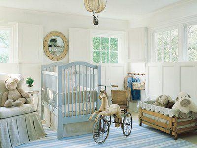 Blue and tan nursery - beautiful!