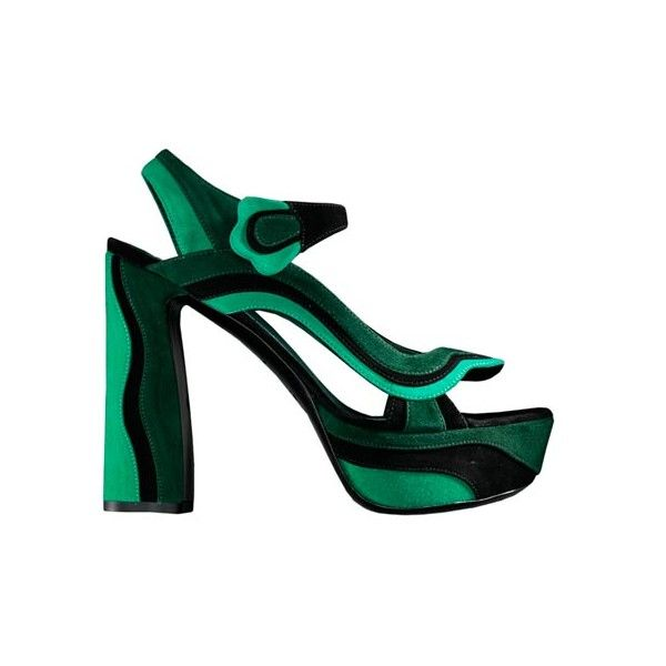 3e4b3c4d802 Elle UK Spring 08 Accessories Report - Prada green and black suede ...