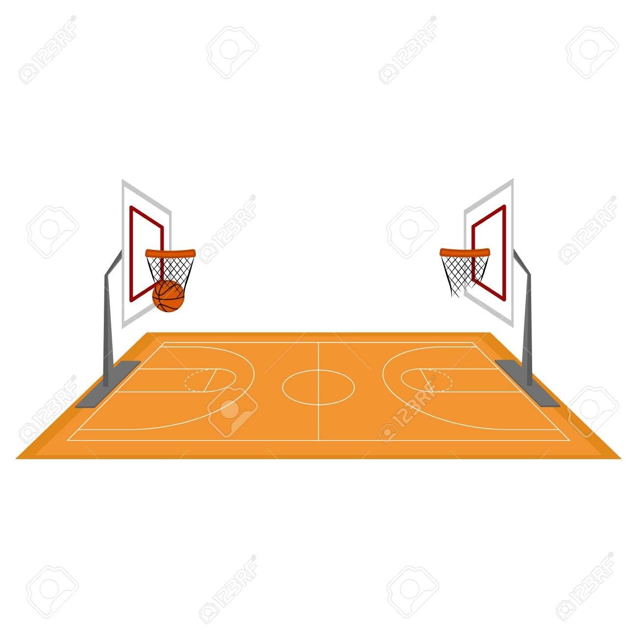 Side View Of A Basketball Court Vector Illustration Design Ad Basketball View Side Co Vector Illustration Design Creative Flyer Design Flyer Design