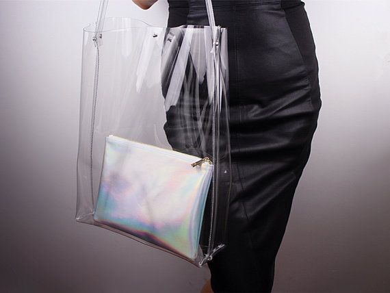 Clear Oversized Extra Large Huge Tote Pvc Vinyl By Eastworkshop 12 98 Fashion Chic Bags Vinyl Bag