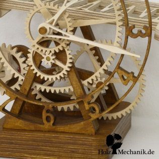 Electromechanical Wooden Rolling Ball Clock Serpina From Christopher Blasius Wooden Clock Awesome Woodworking Ideas Wooden Clock Plans