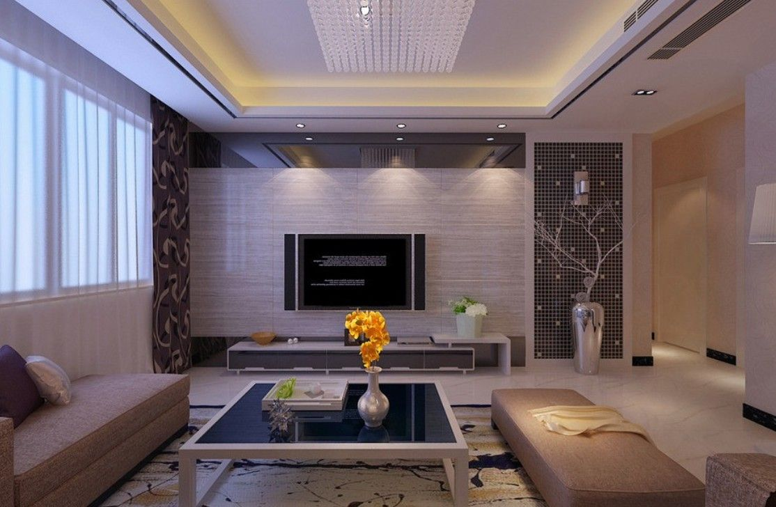 15 modern tv wall units for your living room modern tv for Interior cupboard designs for hall