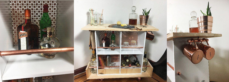 Book shelf turned bar cart outdoor living shelving ideas live
