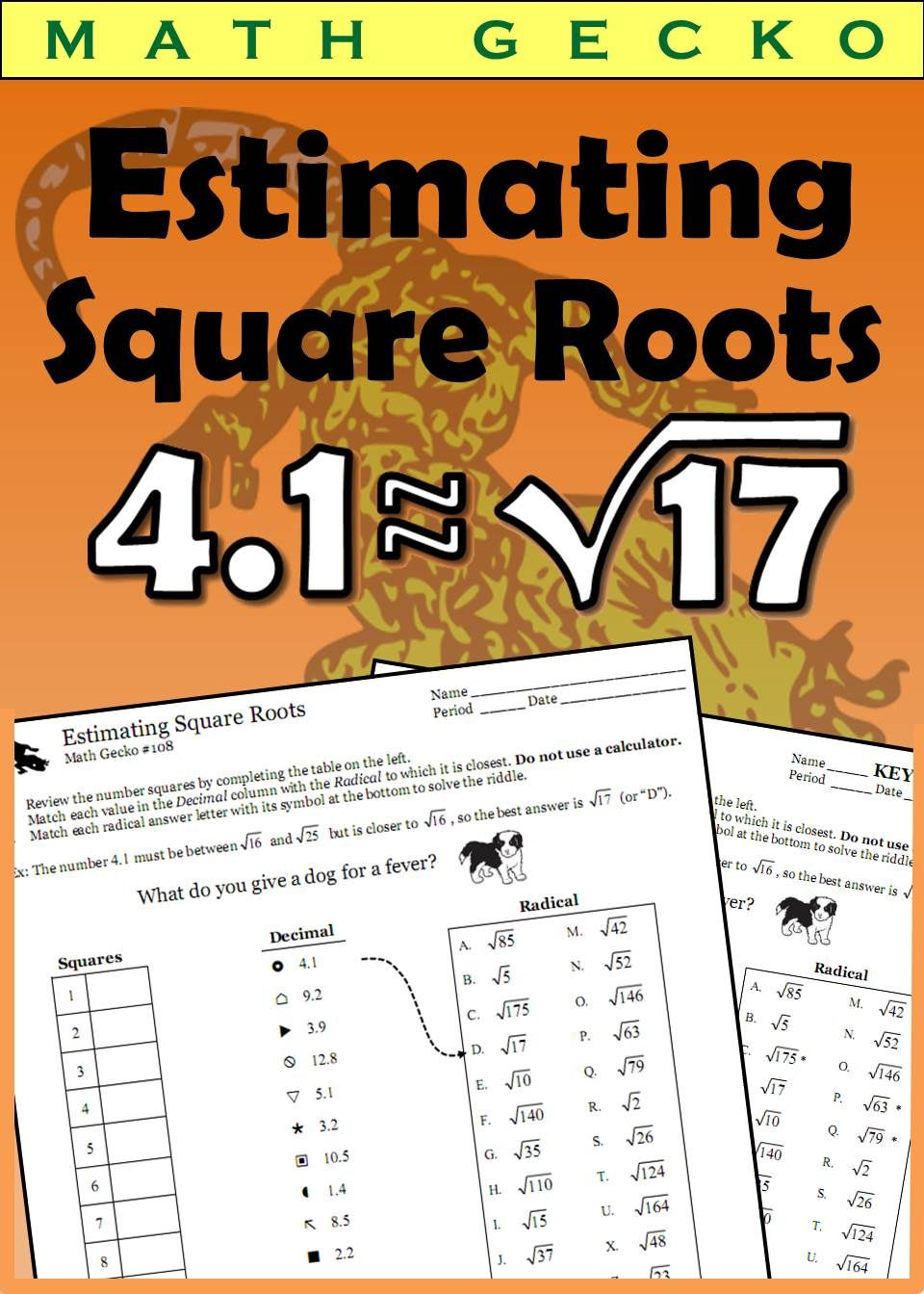 small resolution of Estimating Square Roots   Estimating square roots