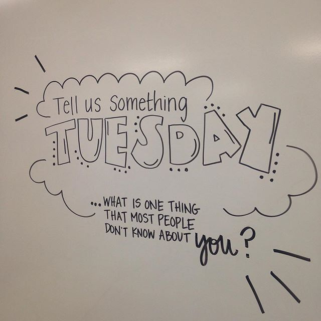 Tell us something Tuesday. Whiteboard morning work for ...