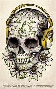 Music Sugar Skull