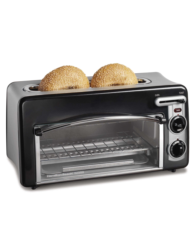 Hamilton Beach 22708 Toastation 2 Slice Toaster And Mini Oven Black By Hamilton Beach 1 068 Custome Mini Oven Countertop Oven Toaster Oven Reviews