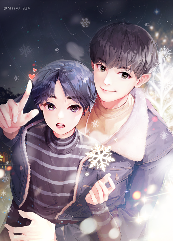 Ikbhal Cute Babies: EXO Fan Arts // Chanyeol And Tiny Little Hyung, Minseok