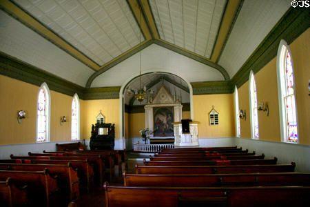 Country Church Interior At Stuhr Museum Grand Island NE