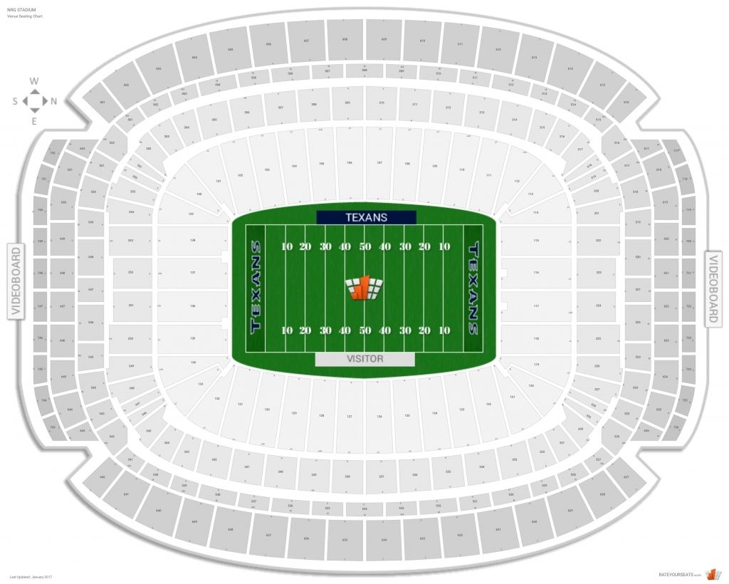 Nrg Stadium Seating Chart With Seat Numbers Di 2020