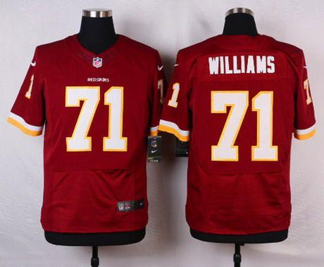 81b8c540289 Men s Washington Redskins  71 Trent Williams Burgundy Red Team Color NFL  Nike Elite Jersey